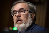Andrew Wheeler Photo - Andrew Wheeler Administrator United States Environmental Protection Agency (EPA) speaks during a US Senate Environment and Public Works Committee hearing on Capitol Hill in Washington DC US on Wednesday May 20 2020 Credit Al Drago  Pool via CNPAdMedia