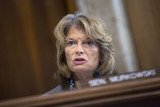 Alaska  Photo - United States Senator Lisa Murkowski (Republican of Alaska) speaks during a business meeting of the United States Senate Committee on Energy and Natural Resources on Capitol Hill in Washington DC US on Tuesday June 9 2020 as they consider the nomination of Mark Menezes to be the Deputy Secretary of Energy  Credit Stefani Reynolds  CNPAdMedia