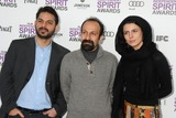Asghar Farhadi Photo - 25 February 2012 - Santa Monica California - Peyman Moadi Asghar Farhadi Leyla Hatami 2012 Film Independent Spirit Awards - Arrivals held at Santa Monica Beach Photo Credit Byron PurvisAdMedia