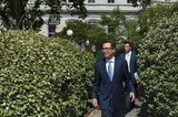 President Trump Photo - United States Secretary of the Treasury Steven Mnuchin makes his way to the West Wing at The White House following the Supreme Court ruling that a New York prosecutor is entitled to see President Trumps private and business financial records in Washington DC Thursday July 9 2020 Credit Rod LamkeyCNPAdMedia