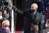 Barack Obama Photo - Former President Barack Obama gives a thumbs up after the 59th Presidential Inauguration at the US Capitol in Washington Wednesday Jan 20 2021 (AP PhotoPatrick Semansky PoAdMedia