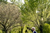 Joe Biden Photo - US President Joe Biden walks towards Marine One on the Ellipse of the White House in Washington DC US on Friday April 16 2021 Biden will travel to Wilmington Delaware for the weekend Credit Stefani Reynolds  Pool via CNPAdMedia