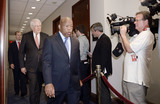 Barack Obama Photo - Members of the House Democratic Caucus led by United States Representative John Lewis (Democrat of Georgia) arrive at the Gabriel Zimmerman room to attend a meeting with US President Barack Obama to discuss his trade agenda in the US Capitol in Washington DC on June 12 2015Credit Olivier Douliery  Pool via CNPAdMedia