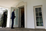 White House Photo - US President Joe Biden enters the Oval Office of the White House after deliver remarks on gun violence prevention in Washington on April 8 2021 Credit Yuri Gripas  Pool via CNPAdMedia