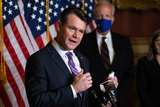 Supremes Photo - Senator Todd Young R-IN speaks during a press conference after President Trumps Supreme Court nominee Judge Amy Coney Barrett was confirmed by the Senate as the 115th justice to the Supreme Court on Capitol Hill Monday October 26th 2020AdMedia