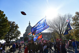 Supremes Photo - Participants in the pro-Trump MAGA rally pass the United States Capitol en route to the US Supreme Court in Washington DC on Saturday November 14 2020Credit Rod Lamkey  CNPAdMedia