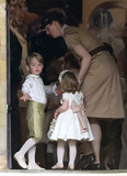 Prince George Photo - 20 May 2017 - Prince George of Cambridge and Princess Charlotte of Cambridge with their nanny Maria Teresa Turrion Borrallo at the wedding of James Matthews and Pippa Middleton at St Marks Church Englefield Berkshire UK Photo Credit ALPRAdMedia
