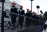 US Army Photo - Members of the US Army Band arrive prior to the 59th Presidential Inauguration for President-elect Joe Biden and Vice President-elect Kamala Harris on Wednesday January 20 2021 at the US Capitol in Washington DCCredit Greg Nash  Pool via CNPAdMedia