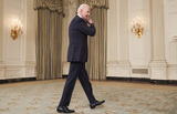 White House Photo - United States President Joe Biden arrives to make remarks on the implementation of the American Rescue Plan (ARP) in the State Dining Room of the White House in Washington DC on Wednesday May 5 2021  The President detailed the ARPs Restaurant Revitalization Fund which provides 286 billion in direct relief to restaurants and food and beverage establishmentsCredit Jim LoScalzo  Pool via CNPAdMedia