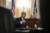 Senator Lindsey Graham Photo - United States Senator Lindsey Graham (Republican of South Carolina) asks Antony J Blinken of New York a question during his confirmation hearing to be Secretary of State before the US Senate Foreign Relations Committee at the US Capitol in Washington DC on January 19 2021 Credit Alex Edelman - Pool via CNPAdMedia