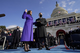 Supremes Photo - Kamala Harris is sworn in as Vice President by Supreme Court Justice Sonia Sotomayor as her husband Doug Emhoff holds the Bible during the 59th Presidential Inauguration at the US Capitol in Washington Wednesday Jan 20 2021 (AP PhotoAndrew Harnik Pool)AdMedia