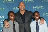 Dion Photo - 5 April 2018 - Los Angeles California - Dwayne Johnson with Dion Edmondson and Malachi Edmondson Dwayne Johnson Honored at the LA Family Housing Awards 2018 held at The Lot Photo Credit AdMedia