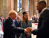 Anthony Joshua Photo - 09032020 - Boris Johnson with Girlfriend Carrie Symonds and Anthony Joshua Commonwealth Day 2020 Service at Westminster Abbey in London Photo Credit ALPRAdMedia