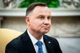 White House Photo - Polish PresidentAndrzej Duda during a bilateral meeting with United States President Donald J Trump in the Oval Office of the White House in Washington DC on June 24 2020 Credit Erin Schaff  Pool via CNPAdMedia