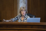 Alaska  Photo - United States Senator Lisa Murkowski (Republican of Alaska) listens during a US Senate Committee on Energy and Natural Resources hearing on Capitol Hill in Washington DC US on Wednesday June 24 2020  Credit Stefani Reynolds  CNPAdMediaAdMedia