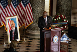 Alcee Hastings Photo - United States House Majority Whip James Clyburn (Democrat of South Carolina) speaks at the ceremony celebrating the life of the late US Representative Alcee Hastings (Democrat of Florida) in Statuary Hall of the Capitol in Washington DC on April 21st 2021Credit Anna Moneymaker  Pool via CNPAdMedia