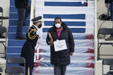 Barack Obama Photo - A stand-in for former President Barack Obama walks on to the podium during a rehearsal for the 59th Presidential Inauguration at the US Capitol in Washington Monday Jan 18 2021 Credit Patrick Semansky  Pool via CNPAdMedia