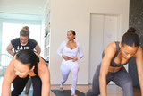 Adrienne Bailon Photo - 31 March 2017 - Beverly Hills California - Jasmine Sanders Draya Michele Serayah McNeill Adrienne Eliza Houghton Adrienne Bailon Draya Michele and Friends at AloYoga Photo Credit AdMedia