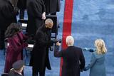 Michelle Obama Photo - Former President Barrack Obama and Michelle Obama greeting President-elect Joe Biden and Jill Biden during the 59th Presidential Inauguration at the US Capitol in Washington Wednesday Jan 20 2021 (AP PhotoSusan Walsh Pool)AdMedia