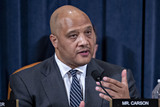 Andre Carson Photo - United States Representative Andre Carson (Democrat of Indiana) questions witnesses during a US House Intelligence Committee impeachment inquiry hearing in Washington DC US on Thursday Nov 21 2019 The committee heard from nine witnesses in open hearings this week in the impeachment inquiry into US President Donald J TrumpCredit Andrew Harrer  Pool via CNPAdMedia