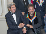 The Eagles Photo - United States Secretary of State John Kerry left shakes hands with actor Al Pacino right as they prepare prepare to pose The five recipients of the 39th Annual Kennedy Center Honors pose for a group photo following a dinner hosted by United States Secretary of State John F Kerry in their honor at the US Department of State in Washington DC on Saturday December 3 2016  The 2016 honorees are Argentine pianist Martha Argerich rock band the Eagles screen and stage actor Al Pacino gospel and blues singer Mavis Staples and musician James TaylorCredit Ron Sachs  Pool via CNPAdMedia