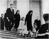 John F Kennedy Photo - United States President John F Kennedys Family leaves the US Capitol after Ceremony on November 24 1963  (L-R)Caroline Kennedy Jacqueline Bouvier Kennedy John F Kennedy Jr (2nd row) Attorney General Robert F Kennedy Patricia Kennedy Lawford (hidden) Jean Kennedy Smith (3rd Row) Peter Lawford Credit JFK Library via CNPAdMedia