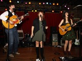 Alyssa Bonagura Photo - July 26 2011 - Nashville TN - Michael Bonagura Kathy Baillie and Alyssa Bonagura Artists musicians and songwriters came together at Mercy Lounge to help raise funds for Pete Huttlinger a widely respected guitarist and Nashville studio artist  Huttlinger has a congenital heart disease and is in need of a heart transplant Photo credit Dan HarrAdmedia