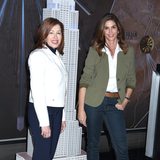 The Ceremonies Photo - 04 March 2020 - New York New York - Lisa Gurwitch and Cindy Crawford at the ceremonial lighting of the Empire State Building in celebrating International Womens Day and promoting the nonprofit Delivering Good Held in the Lobby and on the Observation Deck of the Empire State Building Photo Credit LJ FotosAdMedia