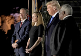 The Ceremonies Photo - From left to right Jesse Barrett  Judge Amy Coney Barrett United States President Donald J Trump and Associate Justice of the Supreme Court Clarence Thomas during the ceremony where Judge Barrett took the oath of office outside the Diplomat Room of the White House in Washington DC US October 26 2020 Credit Ken CedenoPool via CNPAdMedia