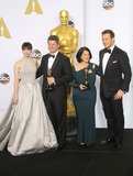 Anna Pinnock Photo - 22 February 2015 - Hollywood California - Felicity Jones Adam Stockhausen Anna Pinnock Chris Pratt 87th Annual Academy Awards presented by the Academy of Motion Picture Arts and Sciences held at the Dolby Theatre Photo Credit F SadouAdMedia