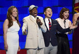 Ben Vereen Photo - Ben Vereen second left sings What the World Needs Now is Love with other stars of Broadway during the third session of the 2016 Democratic National Convention at the Wells Fargo Center in Philadelphia Pennsylvania on Wednesday July 27 2016 Photo Credit Ron SachsCNPAdMedia