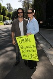 Casey Kasem Photo - Jason Thomas Gordon Kerri Kasemat a protest involving Casey Kasems children brother and friends who want to see him but have been denied any contact  Private Location Holmby Hills CA 10-01-13
