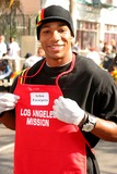 Arlen Escarpeta Photo - Arlen Escarpeta at the Thanksgiving Meal for the Homeless at the Los Angeles Mission Los Angeles CA 11-24-04