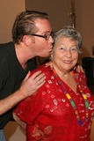 Anne V Photo - Anne V Coates gets a kiss