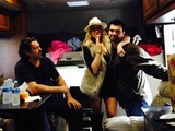 Angus MacFadyen Photo - Angus Macfadyen Jennifer Blanc Larry Wade Carrellon the set of the upcoming She Rises by BlancBiehn Productions Private Location Los Angeles CA 12-22-13
