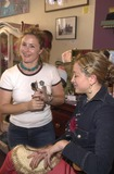 Alex M Photo - Courtney Corvan from Chameleon Make-up Studios with Jennifer Blanc at the Icecubes By Alex M Trunk Show at Blancs 5224 Hollywood Blvd Los Angeles CA 11-10-02