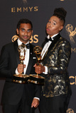 Aziz Ansari Photo - LOS ANGELES - SEP 17  Aziz Ansari Lena Waithe at the 69th Primetime Emmy Awards - Press Room at the JW Marriott Gold Ballroom on September 17 2017 in Los Angeles CA