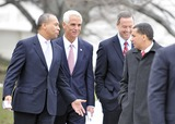 David A Paterson Photo - Washington DC - February 22 2009 -- Governor David A Paterson (Democrat of New York) departs after he and his fellow governors met United States President Barack Obama at the White House in Washington DC on Monday February 22 2010 From left to right Governor Deval Patrick (Democrat of Massachusetts) Governor Charley Crist (Republican of Florida) Governor Martin OMalley (Democrat of Maryland) and Governor PatersonPhoto by Ron Sachs-CNP-PHOTOlinknet