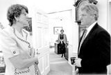 Janet Reno Photo - Washington DC - (FILE) -- United States President Bill Clinton confers with Attorney General Janet Reno in the Oval Office of the White House in Washington DC on Thursday April 15 1993  Reno a former Dade County Florida prosecutor has been widely praised for her tough approach to fighting crimeCredit White House via CNP