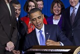 Robert gates Photo - United States President Barack Obama surrounded by lawmakers and bill supporters signs into law the Dont Ask Dont Tell Repeal Act of 2010 which will allow openly gay lesbian or bisexual soldiers to serve in the military in a signing ceremony at the Department of the Interior in Washington DC on Wednesday 22 December 2010 The repeal will take at least 60 days to go into effect and has the backing of most of the military including Defense Secretary Robert GatesPhoto by Jim Lo Scalzo - Pool via CNP-PHOTOlinknet