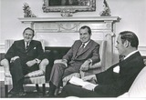 President Nixon Photo - Washington DC - April 26 1971 -- United States President Richard M Nixon meets Prime Minister Jack G Gorton of Australia in the Oval Office of the White House in Washington DC on April 26 1971  Pictured from left to right Prime Minister Gorton President Nixon Brigadier General General Alexander M Haig Jr United States ArmyCredit White House via CNPPHOTOlinknet