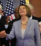 House Speaker Nancy Pelosi Photo - RESTRICTED NO NEW YORK OR NEW JERSEY NEWSPAPERS WITHIN A 75 MILE RADIUS OF NYCUnited States House Speaker Nancy Pelosi (Democrat of California) enjoys a good laugh as she and US House Democratic Leaders celebrate the passage of the health care reform bill in the US Capitol in Washington DC early Monday morning March 22 2010    Photo by Ron Sachs-CNP-PHOTOlinknet