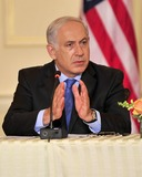 Benjamin Netanyahu Photo - Prime Minister Benjamin Netanyahu of Israel makes remarks at the event hosted by United States Secretary of State Hillary Rodham Clinton entitled the Relaunch of Direct Negotiations Between the Israelis and Palestinians in the Benjamin Franklin Room of the US Department of State on Thursday September 2 2010  Credit Ron Sachs  CNP(RESTRICTION NO New York or New Jersey Newspapers or newspapers within a 75 mile radius of New York City)