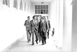 Henry A Kissinger Photo - Washington DC - May 31 1974 -- United States President Richard M Nixon walks along the colonnade from the Residence to the Oval Office at the White House in Washington DC on May 31 1974 Pictured from left to right General Alexander M Haig Jr United States Army Assistant to the President (Chief of Staff) President Nixon Major General Brent Scowcroft United States Air Force Deputy Assistant to the President for National Security Affairs and United States Secretary of State Henry A Kissinger who also holds the title of Assistant to the President  for National Security AffairsCredit White House via CNPPHOTOlinknet