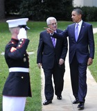 ABBA Photo - United States President Barack Obama walks President Mahmoud Abbas of the Palestinian Authority to his car after their meeting in the Oval Office of the White House in Washington DC on Wednesday September 1 2010  This is one of several meetings between the President and Middle East Leaders in advance of the opening of the first direct talks in two years between Israel and the Palestinian Authority scheduled to begin at the State Department in Washington DC tomorrowPhoto by Ron SachsPool-CNP-PHOTOlinknet