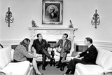 President Nixon Photo - Washington DC - October 21 1970 -- United States President Richard M Nixon meets His Excellency Souvanna Phouma Prime Minister of Laos in the Oval Office in the White House in Washington DC on October 21 1970  Pictured from left to right unidentified Souvanna Phouma President Nixon Alexander M Haig JrCredit White House via CNPPHOTOlinknet