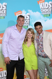 Stevie Nelson Photo - Photo by JMAstarmaxinccomSTAR MAXCopyright 2016ALL RIGHTS RESERVEDTelephoneFax (212) 995-119631216Rob Gronkowski Brandon Broady and Stevie Nelson at the 2016 Nickelodeons Kids Choice Awards(The Forum Inglewood Los Angeles CA)