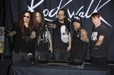 Jonathan Davis Photo - James Munky Shaffer Brian Welch Jonathan Davis Fieldy and Ray Luzier during the induction ceremony to install KORN into the Guitar Centers ROCKWALK on October 8 2013 in Los AngelesPhoto Michael Germana Star Max