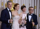 Daniel Day-Lewis Photo - 24th February 2013 85th Annual Academy Awards - Oscars Arrivals Dolby Theatre Hollywood CAPress RoomPictured Anne Hathaway Jennifer Lawrence Christoph Waltz Daniel Day LewisKGC-301starmaxinccom