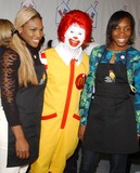 Ronald McDonald Photo - Photo by Walter WeissmanSTAR MAX Inc - copyright 2002112002Ronald McDonald Serena and Venus Williams at World Childrens Day at McDonalds(NYC)